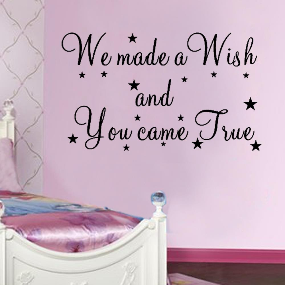 popular baby wishes quotes buy cheap baby wishes quotes lots from we made a wish and you came true vinyl wall stickers quotes for kids baby nursery