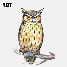 YJZT 11.1CM * 14.9CM mignon hibou animaux nocturnes PVC fenêtre décoration voiture autocollant 11-01330