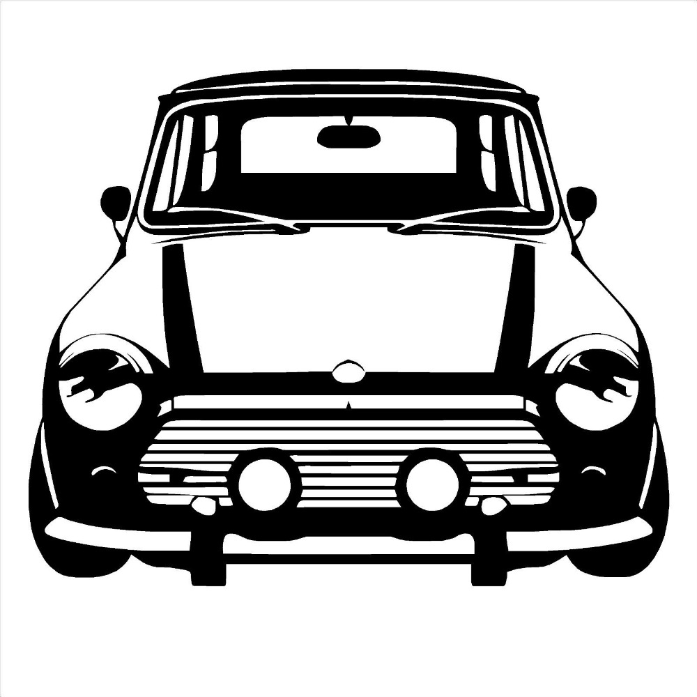 Free shipping DIY CLASSIC MINI COOPER Vinyl Wall Art car