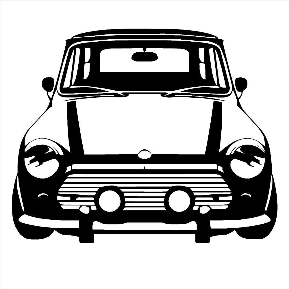 Free shipping DIY CLASSIC MINI COOPER Vinyl Wall Art car sticker room decal