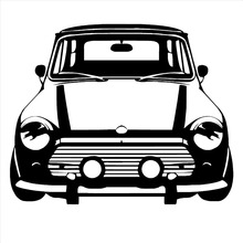 Free shipping DIY CLASSIC MINI COOPER Vinyl Wall Art car sticker room decal