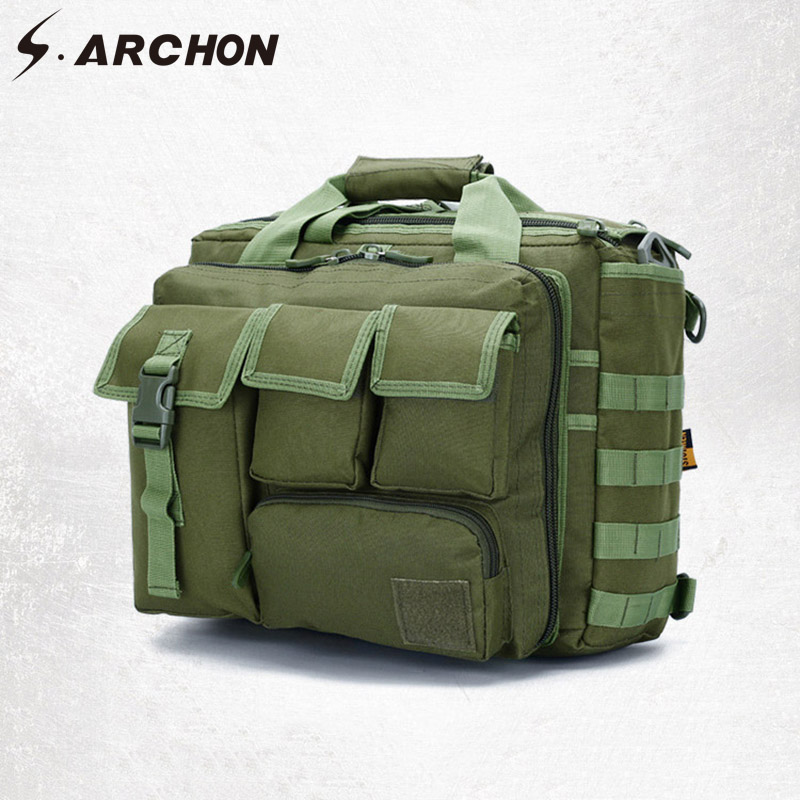 S ARCHON Military Camouflage Bag Man Nylon Durable Military Army Storage Bags Work Multi Function Travel