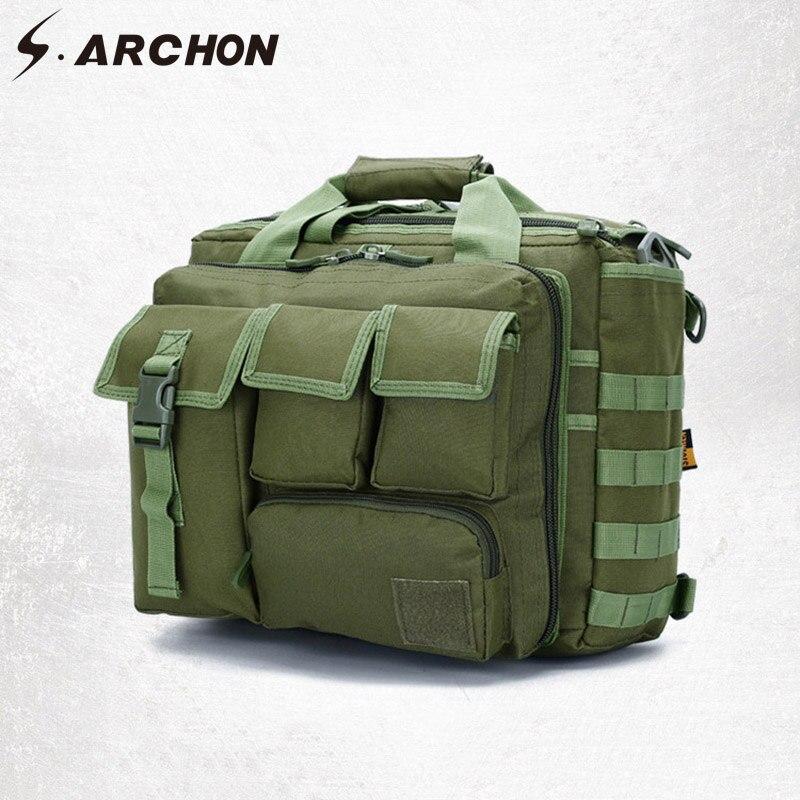 Bagaj ve Çantalar'ten Seyahat Çantaları'de S. ARCHON Askeri Kamuflaj Çantası Adam Naylon Dayanıklı Askeri Ordu Depolama Çanta Iş Çok Fonksiyonlu Seyahat Bilgisayar Çantaları'da  Grup 1