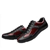 Plus Size 48 Genuine Leather Men Shoes Zapatos Hombre Zapatillas Mens Casual Man Lace Up Flat
