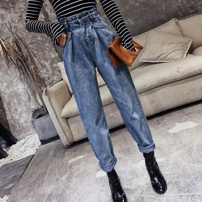 Plus Size 5XL! Jeans Women Fashion High Waist Loose Denim Jeans Female Harem Pants Trousers Boyfriend Jeans For Women