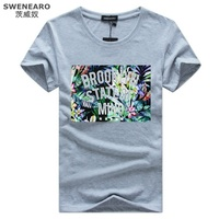 SWENEARO Big Size S-5XL New Men's Pattern Printing T-shirt T-Shirts 9 color Summer Skateboard Skate Tee T-shirts Tops Camiseta