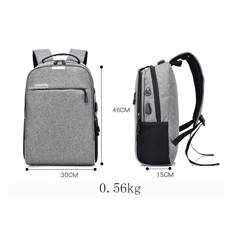 Computer Laptop USB Charging Backpack School Bag Pack Adult Student Bags Business Backpack Male Polyester Travel Backpack 2018
