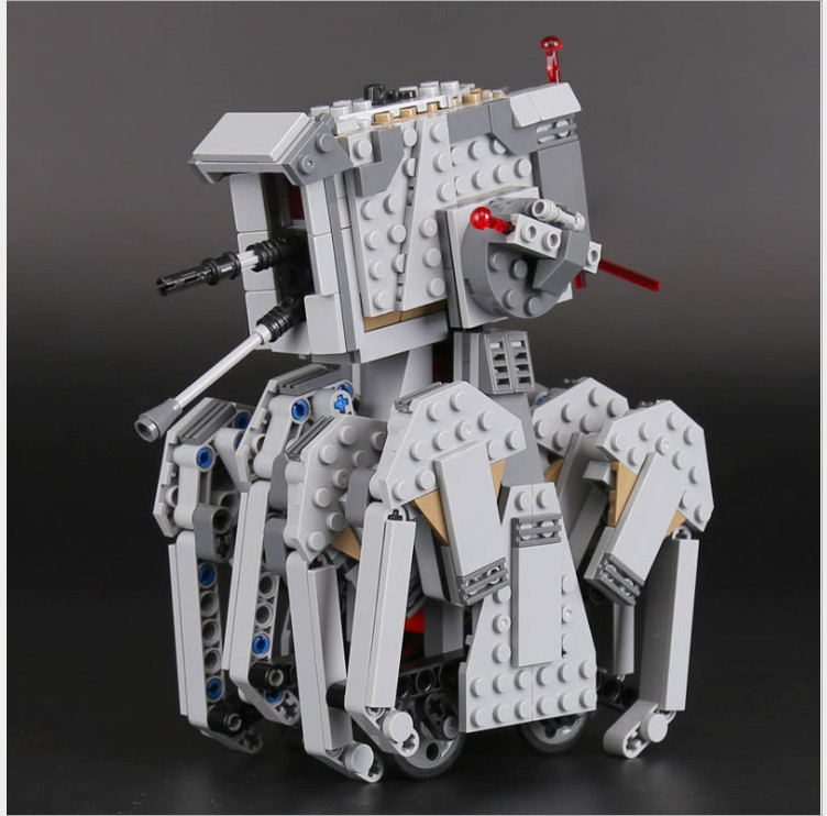 Space Wars First Order Heavy Scout Walker Robot 05126 Model Building Blocks Assemble Toys Bricks Set Compatible With 75177 scout nano exclusive