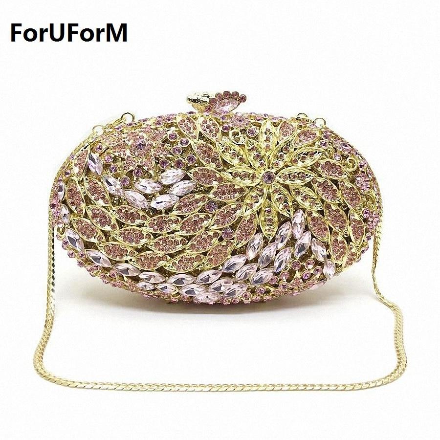 ForUForM jeweled clutch Wedding Bridal purse Luxury Diamond Evening Bags Lady Day clutch Women Crystal Party Bags LI-1568