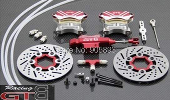 Free shipping!R/C racing car Front -wheel hydraulic brake system for Baja 5B.SS купить