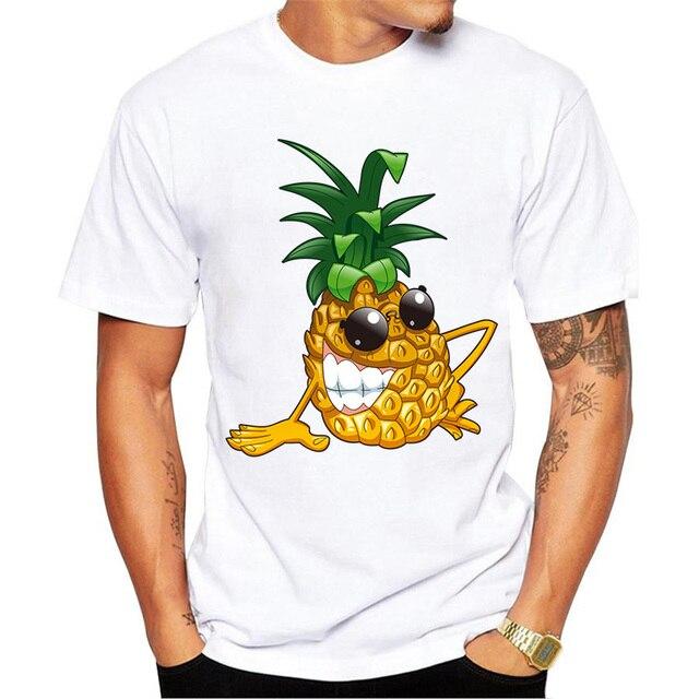 6a2de00157ff3 Piña divertido Hombre Camiseta de la Impresión 3D de Dibujos Animados  Diseño de La Personalidad Camiseta
