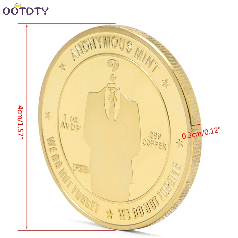 2017 Gold Plated Anonymous Mint Bitcoin Commemorative Coins Collection Souvenir Gift Jun_25