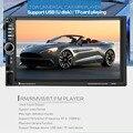 2017 Nova 7060B 7 polegada Veículo Auto Carro Do Bluetooth MP5 Player De Vídeo na Tela Sensível Ao Toque Suporte MP3 USB TF AUX FM & Controle Remoto