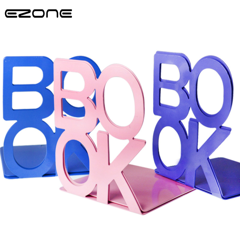 EZONE 1 Pair Fashion 'BOOK Tablet Tablature Bookend Metal Book Stand Book Support Holder Desk Stands For Books Cute Stationery пинтосевич и сделай твой первый шаг книга тренинг