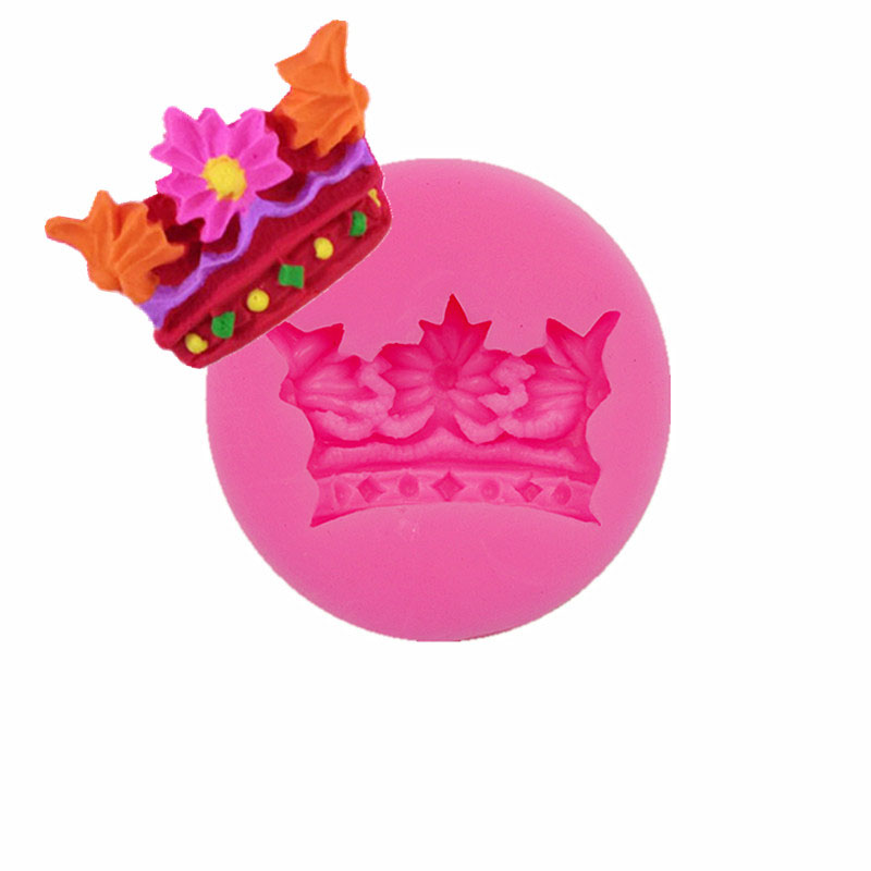 Queen Angel Princess Crown Cake Hantverk Silikon Mögelkaka Dessert Dekorationsverktyg Clay Resin Candy Super Mugg DIYBakning bakverk