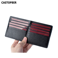 Men Business Credit ID Card Holder Leather Slim 16 Card Slots Male Cow Genuine Leather Women High Quality Famous Brand Designer