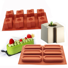 9 Shapes Silicone Chocolate Mold Non-stick Baking Tool for 3D Soap Cake Jelly Fondant Decorating