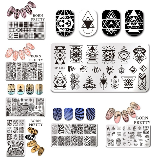 Aliexpress.com : Buy BORN PRETTY 1 Pc Rectangle Nail Stamping Plate ...