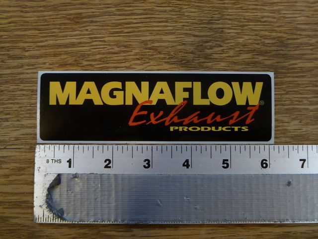 Professional custom stickers high quality label personalized decal magnaflow exhaust logo label