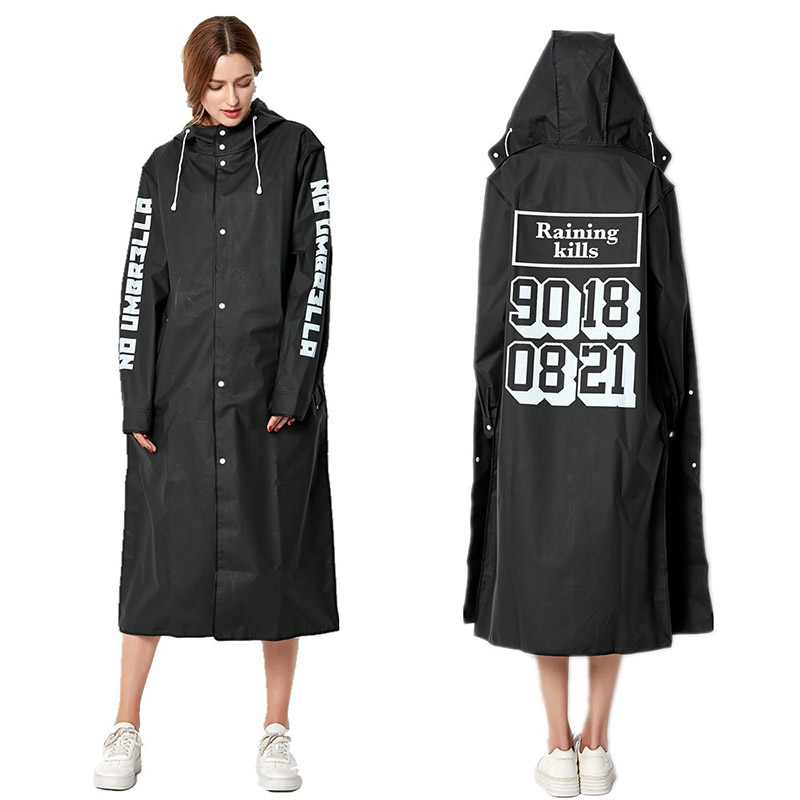 Image 5 - EVA Women Raincoat Rainwear Men Rain Coat Impermeable Capa de Chuva Chubasquero Poncho Japan Waterproof Rain Cape Cover Hooded-in Raincoats from Home & Garden