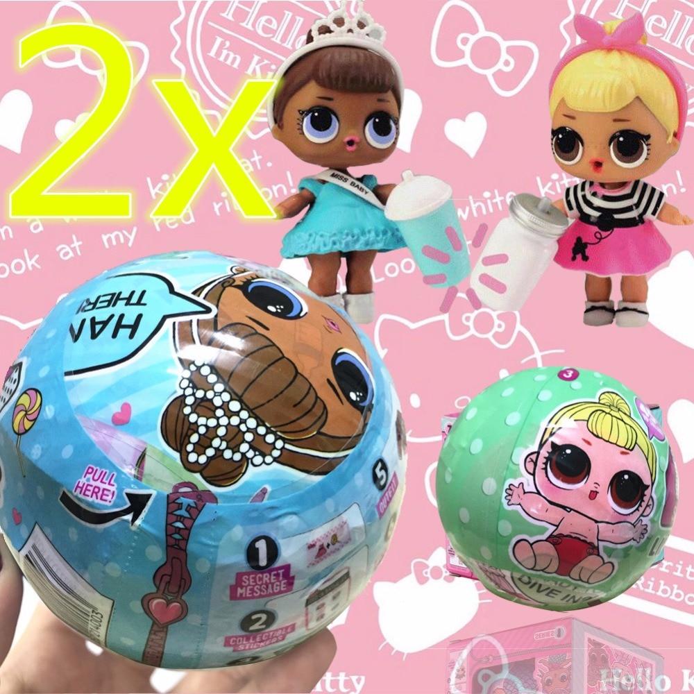 2pcs lot lol dolls lol Doll Magic Funny Removable lol Egg Ball Doll font b Toy
