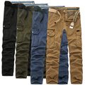 Hot spring and autumn 2016 men's fashion casual loose temperament multi-pocket camouflage tooling trousers plus size 29-40 hot