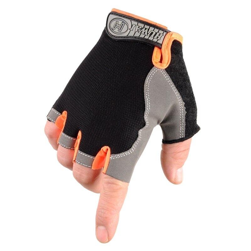 Outdoor Fitness Gloves: KUYOMENS Fitness Half Finger Gloves Exercise Training