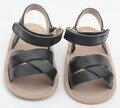 2017 летняя мода черный Римские девушки кожаные сандалии детские босоножки сандалии детские сандалии девушки обувь высокого качества