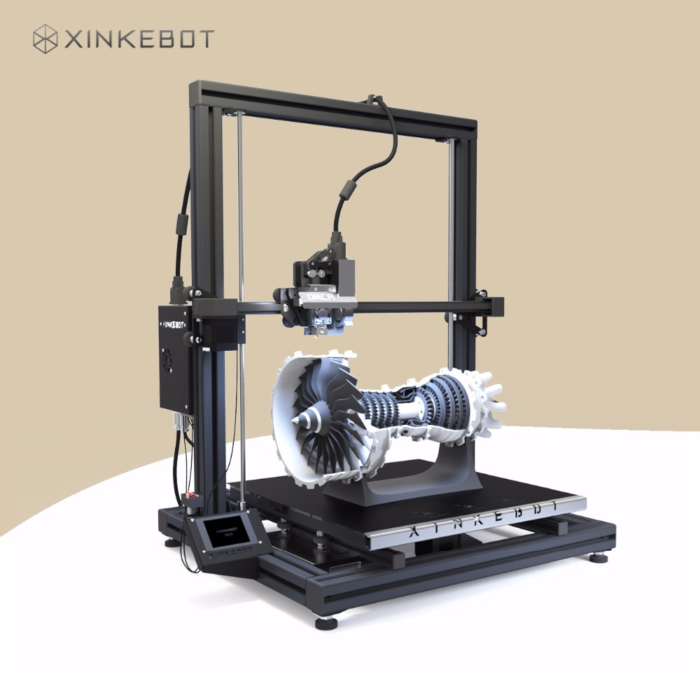2017 XINKEBOT Orca2 Cygnus 3D Printer Prusa i4 Based with Quality MeanWell Power Supply xinkebot 3d printer orca2 cygnus dual extruder high resolution big impressora 3d with free filament