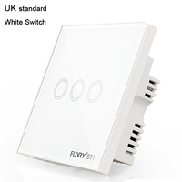 FUNRY UK Standard ST1 3Gang Smart Switch Remote Control Touch Wall Lamp Panel Surface Waterproof Crystal