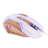 נייד משחקי משחקי USB Gaming Mouse ארגונומיה אופטי Wired מחשב גיימר עכברים לניידים גיימר Mause נייד Desktop PC (4)
