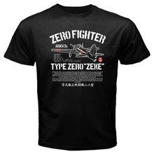 Zero zeke japan 네이비 카미카제 파이터 에어 크래프트 비행기 에어 크래프트 모델 t 셔츠 옴므 2019 뉴 슬리브 하라주쿠 탑 밴드 셔츠