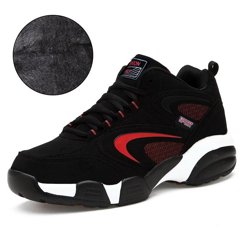 Monrinda Hiver Sneakers Femmes Chaussures de Course Étanche Sport Chaussures Hommes En Plein Air Vache En Cuir Chaud Neige Bottes spor ayakkabi erkek