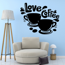 Family coffee Wall Sticker Pvc Removable vinyl Stickers Home Decoration Wallpaper