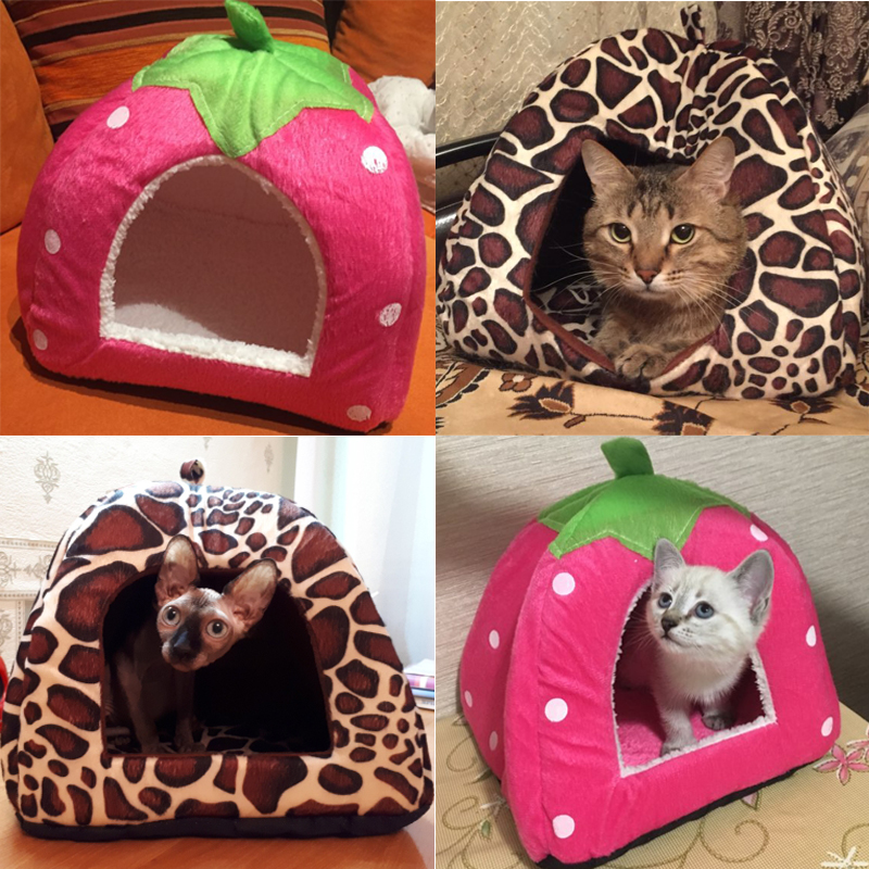 SuperUS Pet House Dog Bed Cat Bed Cushion Kennel Mat Cave Bed for Small Medium Dog Cat with Removable Cushion and Waterproof Bottom