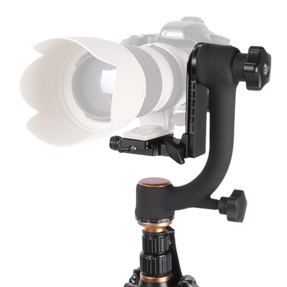 2017 QZSD Q45 Professional Camera Tripod Panoramic 360 Degree Vertical Pro Gimbal Tripod Head 1 4