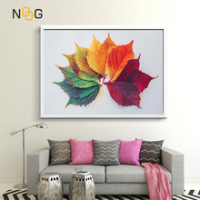 NOOG Multicolored Leaves  Canvas Painting Colourful Style Plant Nordic Poster and Prints Wall Art Picture Modern Home Decoration