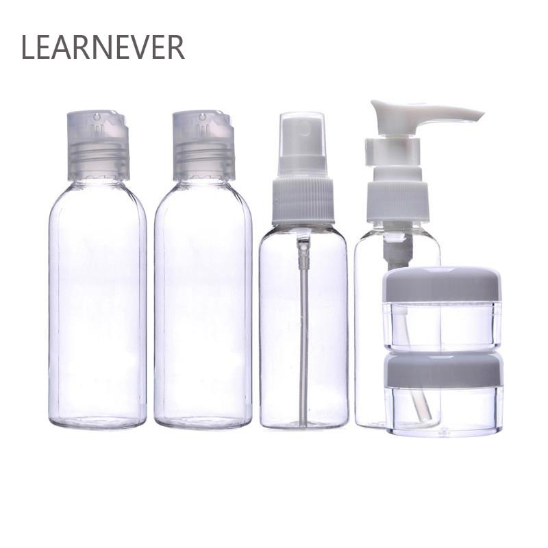 6pcs Makeup Spray Bottle Lotion Case Empty Container Bottles Travel Set Kit New Empty Makeup Jars Transparante Parfum Spray