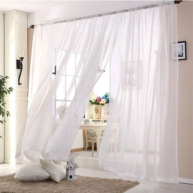 Hochzeit Decke Vorhange Weiss Sheer Vorhange Fenster Dekoration Voile