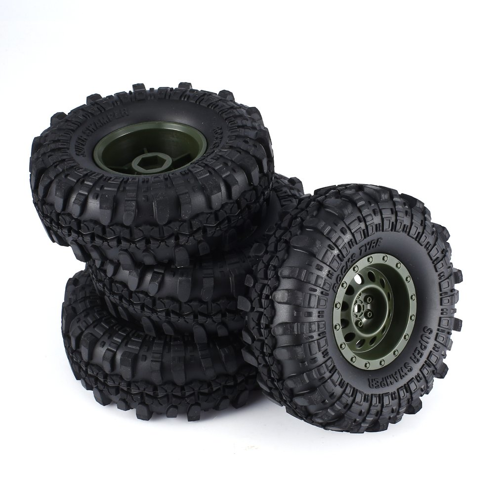 4Pcs For AUSTAR AX-3020/4020 1.9 Inch 103mm 1/10 Scale Tires with Wheel Rim for D90 SCX10 CC01 RC Rock Crawler Parts