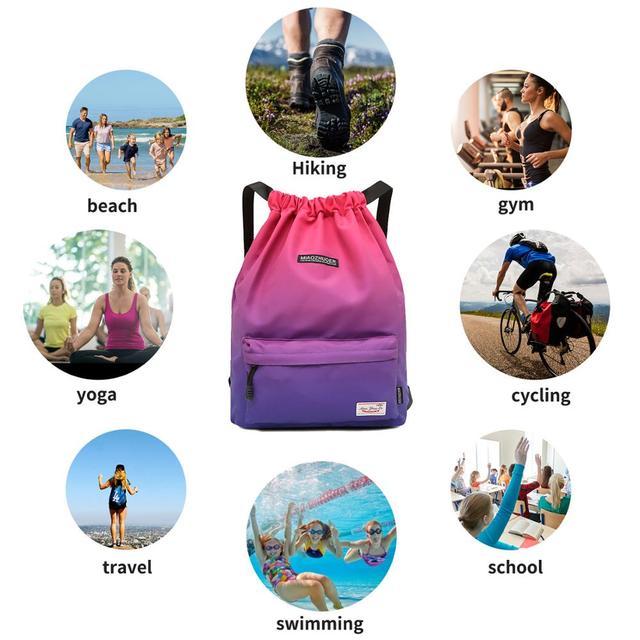 Bag  Summer Waterproof Gym Bag Sports Bag Travel Drawstring Bag Outdoor Bag Backpack for Training Swimming Fitness Bags Softback 4