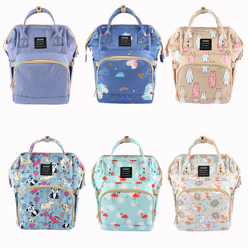 Newborn Diaper Bag Mummy Maternity Nappy Backpack Panda Unicorn  Wet Bag Baby Care Multi-function Waterproof Travel Diaper Bags