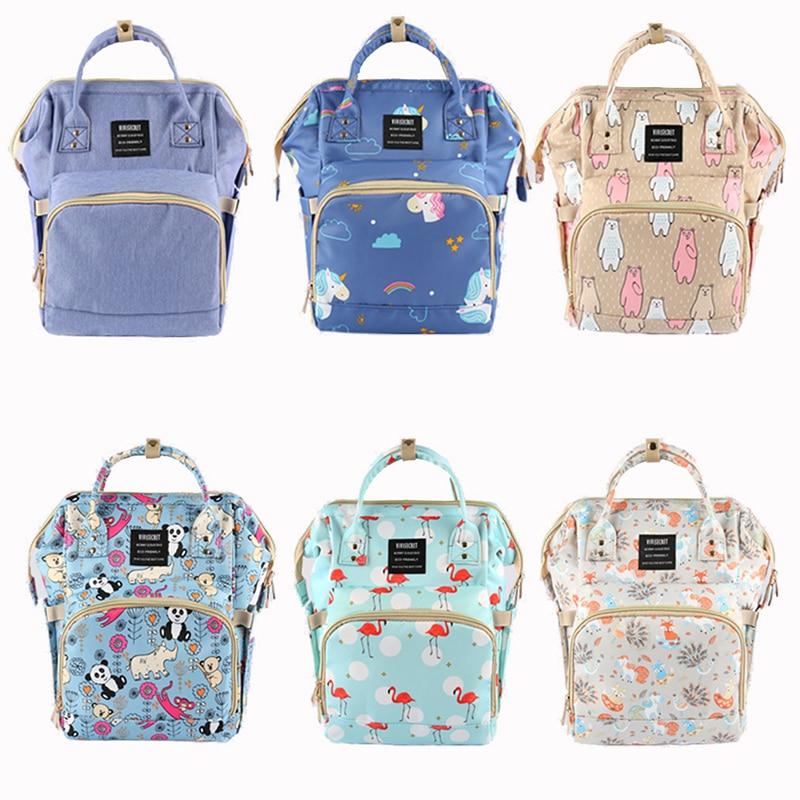 Newborn Diaper Bag Mummy Maternity Nappy Backpack Panda Unicorn  Wet Bag Baby Care Multi-function Waterproof Travel Diaper Bags