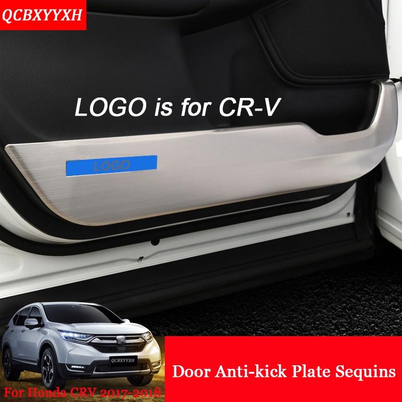 Voiture-Style 4 pcs Voiture Intérieur Porte Protecteur Côté Bord Protection Pad Auto Autocollants Anti-coup Mat Pour Honda CRV CR-V 2017 2018