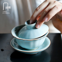 Handmade Gaiwan Glass Tureen Teapot Drinkware 100ml Flower Puer Tea Cup High Quality Heat Resistant Kung