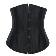 e3b111839d Free shipping Sexy Black Cherry Pattern Overbust Corset Basque With Red  Pleated Trim(China)