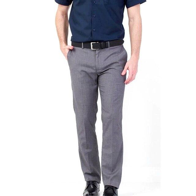 J&F YANG Mens Winter Suit Pants High Quality Top Business Slim Fit Social Business Wedding Dress Suit Pant Vestidos Broeken Man