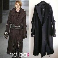 Мужские зимние классические модные высокого качества с капюшоном Turn Down Воротник кашемировое пальто цвет больше пальто мужской S 3XL
