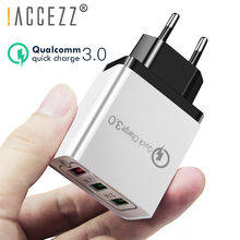 !ACCEZZ 18W Universal 3USB Quick Charge 3.0 For iPhone X 7 8 Samsung Xiaomi Huawei EU Plug Mobile Phone Fast Charger Wall Travel цена