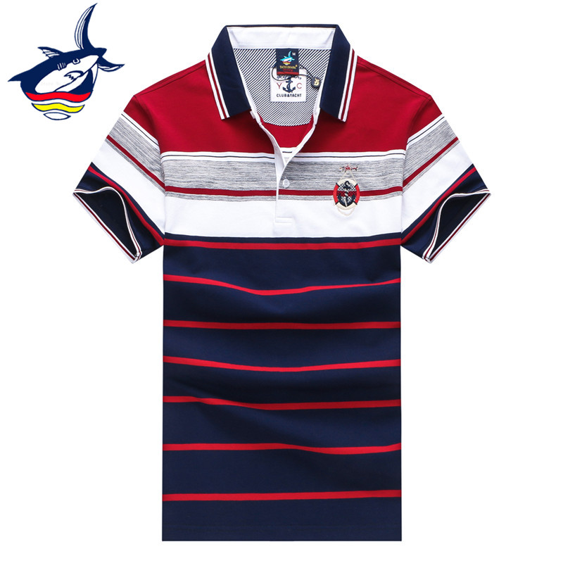 2018 New Striped   polo   shirt men short sleeve smart cotton breathable casual business camisa   polo   Tace & Shark brand   polo   shirts